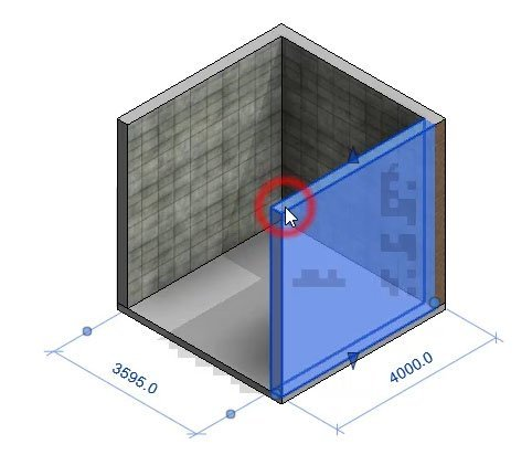 selected wall in revit