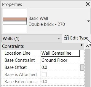 edit type of double brick wall