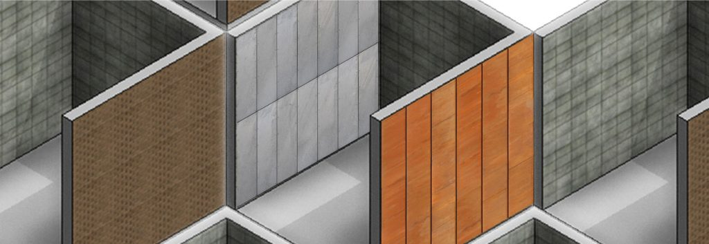 wall materials in 3D